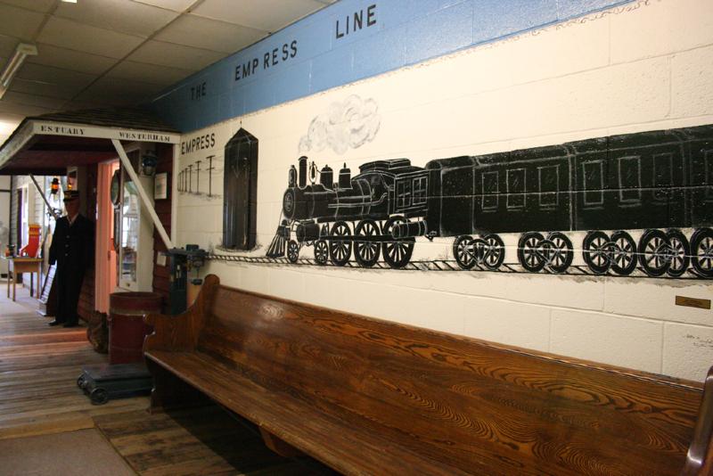Empress train mural